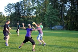 Gemeinsames Handballspiel