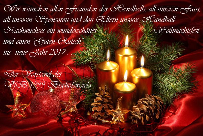 Frohe Weihnacht und einen \