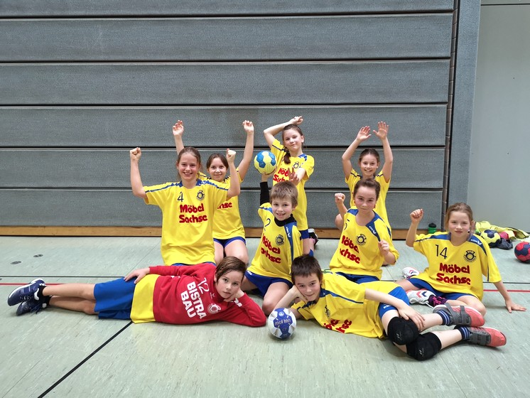 Handball E-Jugend in Hoyerswerda
